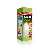 Лампа светодиодная EUROLAMP 12v 2w 3000K G4 0227(12)