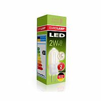 Лампа світлодіодна EUROLAMP 220v 2w 3000K G4 0227(220) пластик