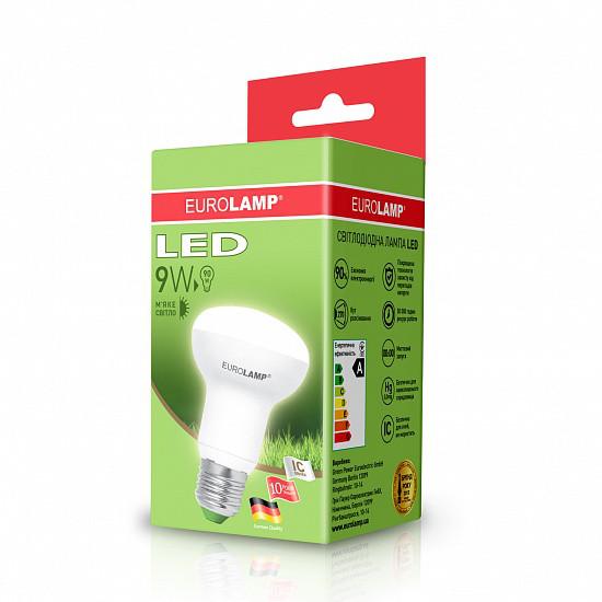 Лампа светодиодная EUROLAMP LED 9w 3000K E27 R63 09272