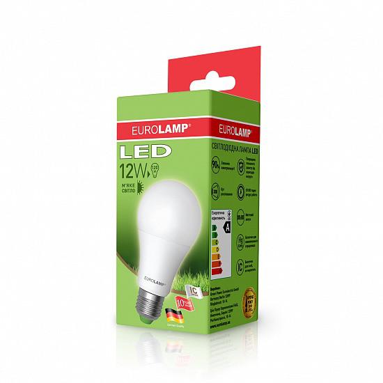 Лампа светодиодная EUROLAMP LED 12w 3000K E27 A60 12273 D классическая