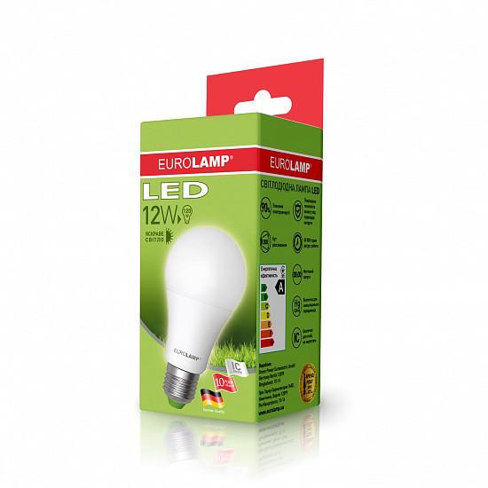 Лампа светодиодная EUROLAMP LED 12w 4000K E27 A60 12274 D классическая