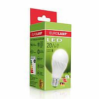 Лампа светодиодная Eurolamp LED 20w 3000К E27 A65 20272 D классическая