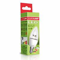 Лампа світлодіодна EUROLAMP LED 6w 4000K E14 CL 06144 D прозора