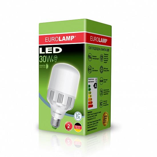 Лампа светодиодная EUROLAMP HP-LED 30w 6500K E27 30276 высокомощная