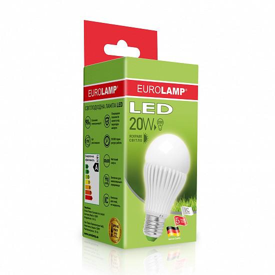 Лампа светодиодная EUROLAMP LED 20w 4000К E27 A65 20274 D классическая