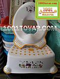 Антиковзка дитяча пластикова накладка (адаптер) на унітаз і сходинка - підставка, фото 4