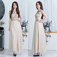 a4774b917af Женское платье бежевое с камнями в Украине. Сравнить цены