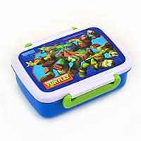 """Контейнер для еды """"Ninja Turtles"""", 420 мл, с разделителем   706217"""