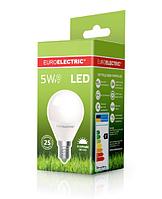 Лампа светодиодная EUROELECTRIC LED 5w 4000K E14 G45 05144 (EE) шар