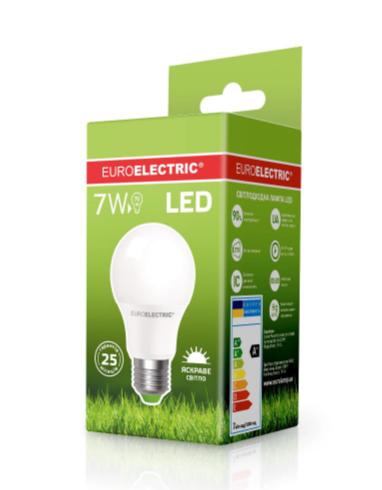 Лампа светодиодная EUROELECTRIC LED 7w 4000K E27 A60 07274 (EE) классическая