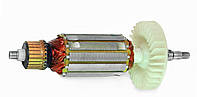 Якорь тст-н болгарки DWT WS-180 SL, DWT WS-150 D (43*186 мм, хвостовик - шлиц+резьба 9 мм)