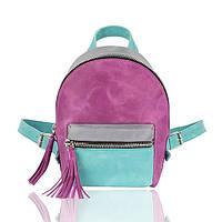 Рюкзак кожаный комбинированный орландо, фото 1