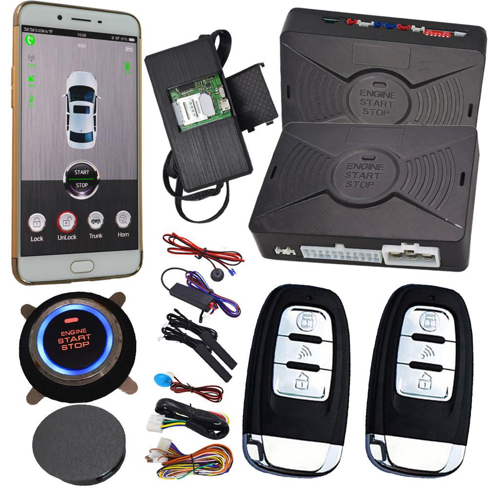Автосигнализация Cardot 688AN с GSM/GPS, кнопкой старт стоп и системой бесключевого доступа 2019