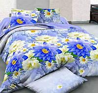 Полуторное постельное белье с простыней на резинке 90/200/25 Акцент, ранфорс