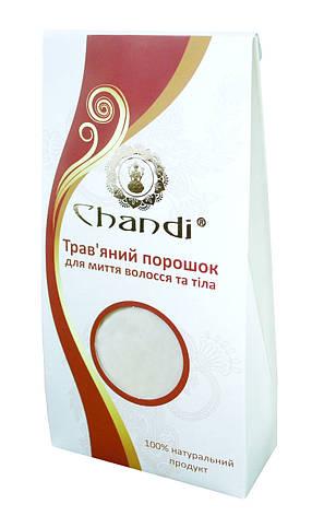 Травяной порошок для мытья волос и тела Chandi, 100г, фото 2