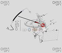 Трубка кондиционера, 1802565180, Geely [CK1, CK2], нагнетательная, АFTERMARKET - 1802565180