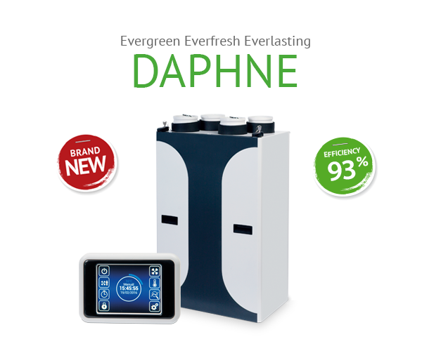 Припливно витяжна установка з рекуперацією DAPHNE HRDA1-030UXCBE75-EE1C-0A0