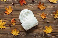 Женская вязаная шапка на флисе tez270757