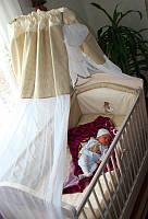 Дитяча постіль, б/у. + одіяло, подушка, балдахін