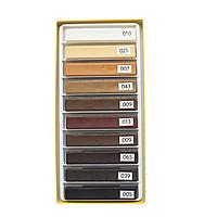 """Віск меблевий """"WoodMix"""" (деревоподібні відтінки + білий і чорний), 10х8 см, фото 1"""