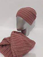 Женский комплект шапка и снуд на флисе tez120782