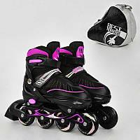 Ролики Best Rollers L (размер 39-42) розовый, колёса PU, в сумке d=7 cм, розовый