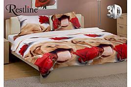 Набор постельного белья Дог Евро размера Restline 3D