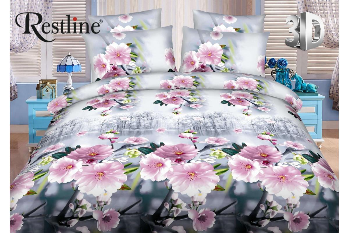 Набор постельного белья Корсика Евро размера Restline 3D