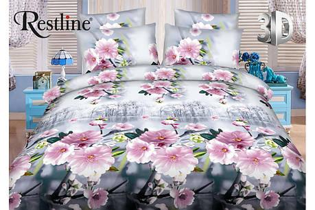 Набор постельного белья Корсика Евро размера Restline 3D, фото 2
