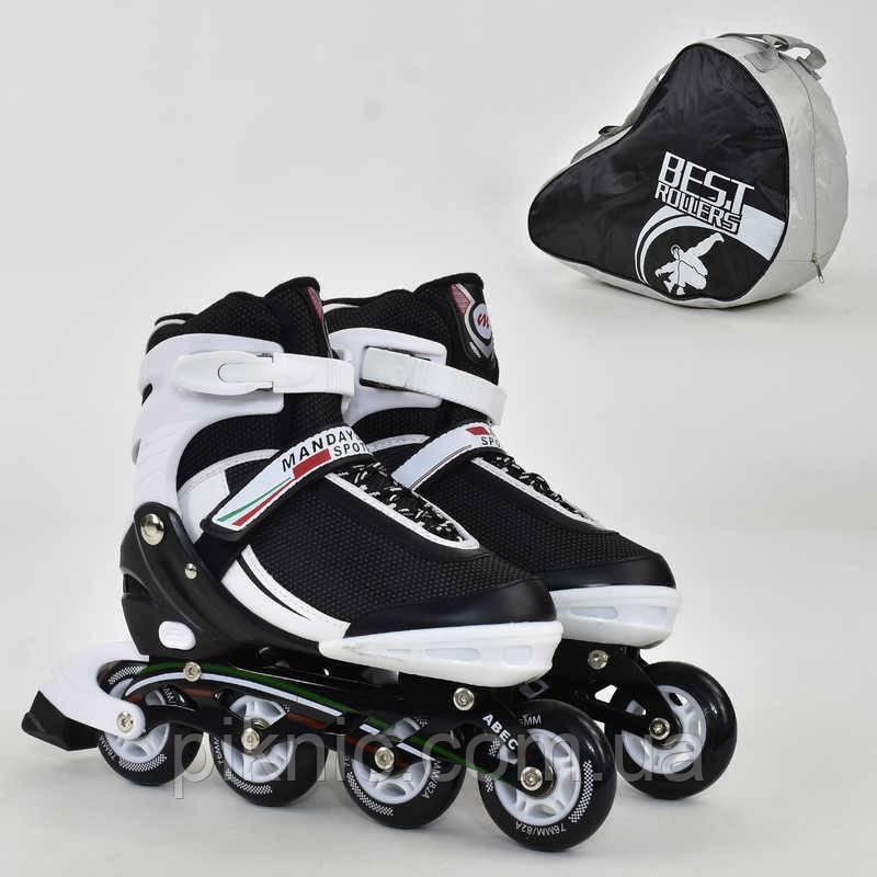 "Ролики ""L"" Best Rollers размер 39-42, колёса PU, без света, в сумке, d=7.6 см"