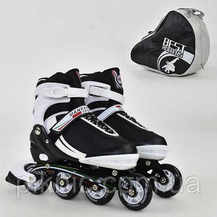 """Ролики """"L"""" Best Rollers размер 39-42, колёса PU, без света, в сумке, d=7.6 см, фото 2"""