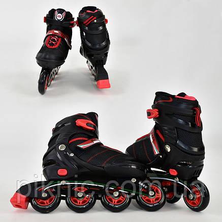 """Ролики """"L"""" Best Rollers размер 39-42, колёса PU, без света, в сумке, d=7.6 см. Красный, фото 2"""
