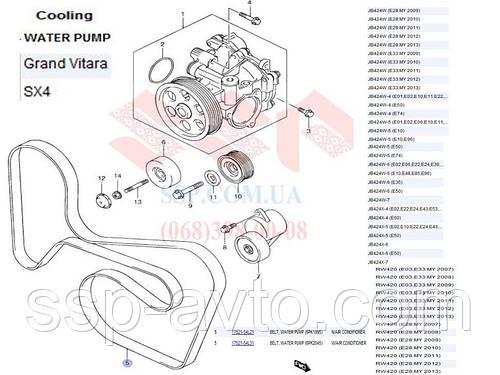 Ремень приводной suzuki Grand Vitara, 6PK2050,Bosch