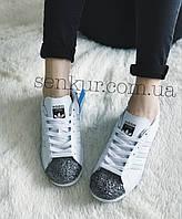 Женские Кроссовки  Adidas Superstar 80s Metal Toe White, фото 1