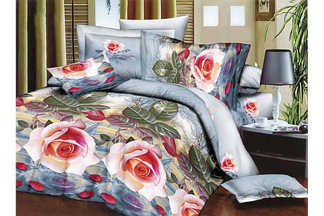 Набор постельного белья Фаворит Евро размера Restline 3D, фото 2