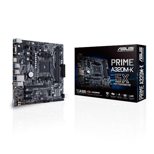"Материнская плата Asus Prime A320M-K AM4 DDR4 ""Over-Stock"" Б/У"