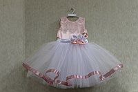 """Нарядное платье на девочку """"Персиковый рай"""""""