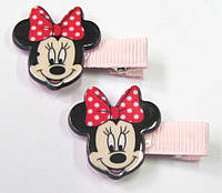 Детские заколочки для волос Минни Маус светло-розовые
