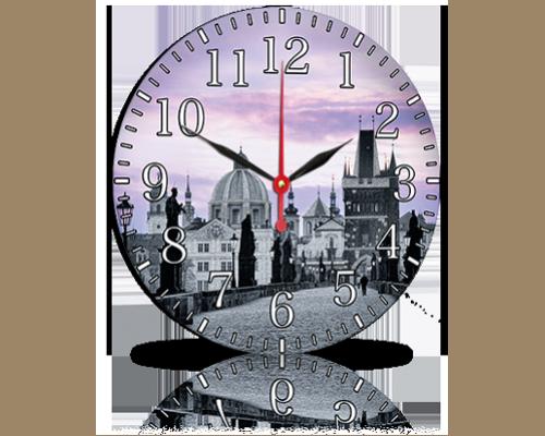 Часы-картина 33 см, без стекла, город