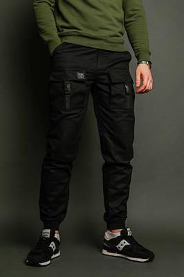 Мужские карго брюки черные бренд ТУР модель Bane