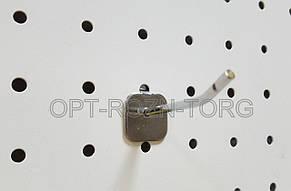 Крючок в перфорацию хром 7 см, толщ. 4 мм.