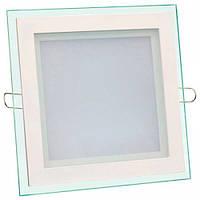 LED Downlight Glass 6W 4500К квадрат