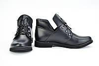 Ботинки низкие кожаные на шнурках