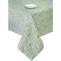 Скатерть хлопок Цветы Олива 140х140 см