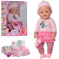 Кукла Пупс Baby Born (Беби Борн) 8020-449. 42 см, 9 функций, 9 аксессуаров