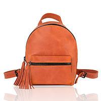 Рюкзак кожаный оранжевый орландо, фото 1