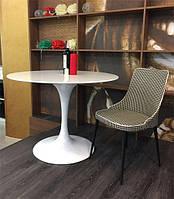 Стол Tulip (Тулип) Concepto круглый белый 100 см стеклопластик дизайн Eero Saarinen