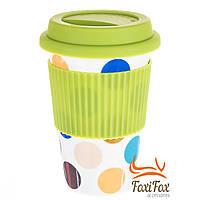 Красивый стакан для кофе с крышкой
