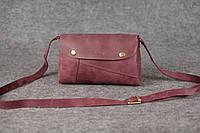 Компактная кожаная сумка Kiki | Винтажный Бордо