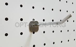 Крючок в перфорацию хром 10 см, толщ. 4 мм.